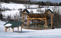 concert stage snow timber frame engineering