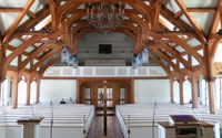 timber frame church
